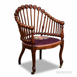 Turned Mahogany Spindle Chair