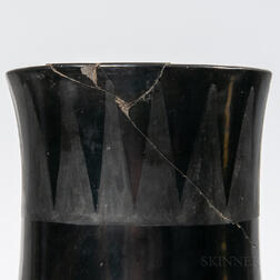 Large San Ildefonso Black-on-black Pottery Olla