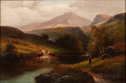 Alexander Williams (Irish, 1846-1930)      Scene in Borrowdale, Cumberland