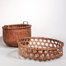 Ash Splint Cheese Basket and Laundry Basket