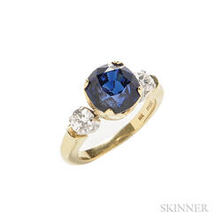 18kt Gold, Sapphire, and Diamond Ring, R.W. Wise