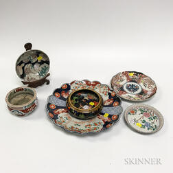 Group of Imari Ceramics and a Cloisonne Bowl