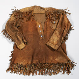 Cree Buckskin Beaded Coat and a Western Hide Jacket
