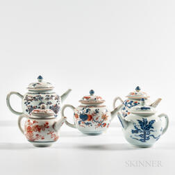 Five Export Porcelain Teapots
