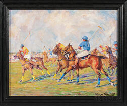 Edward Brodney (American, 1920-2002)      Polo Match