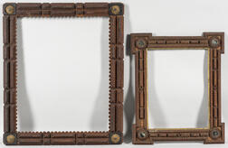 Two Large Tramp Art Frames