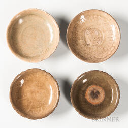 Four Celadon-glazed Dishes