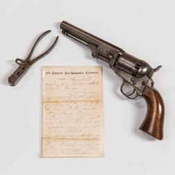 Colt Model 1849 Pocket Revolver and Mold Identified to Arthur Cline, 1st New Hampshire Volunteer Infantry