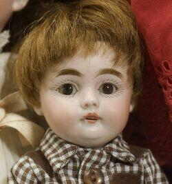 Four Small German Bisque Head Dolls