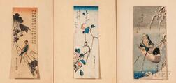 Three Hiroshige (1797-1858) Woodblock Prints