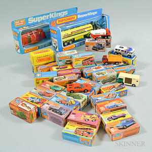 Large Group of Vintage Matchbox and Hot Wheels Toy Cars and Trucks