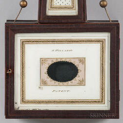 "Simon Willard Patent Timepiece or ""Banjo"" Clock with Signed ""Willard & Nolen"" Lower Tablet"