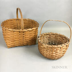 Two Woven Baskets