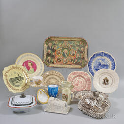 Group of Transfer-decorated Tableware