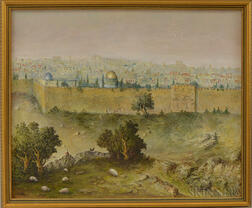 American/Israeli School, 20th Century      View of Jerusalem