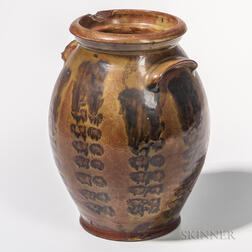 Glazed Redware Jar