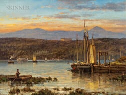 Andrew Melrose (American, 1836-1901)      Catskill Mountains from the Hudson River