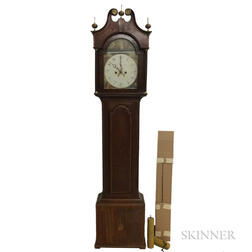 English Inlaid Mahogany Tall Case Clock