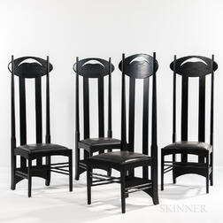Four Mackintosh Chairs by Cassina