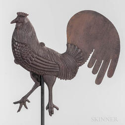 Cast and Sheet Iron Rooster Weathervane