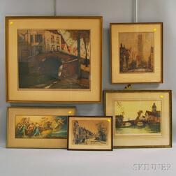 Group of Nine Assorted Framed Prints and Paintings