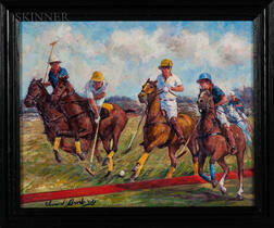 Edward Brodney (American, 1910-2002)    Polo Match