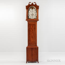 Inlaid Walnut Tall Case Clock