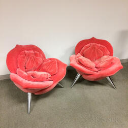 Two Masanori Umeda for Edra Rose Chairs