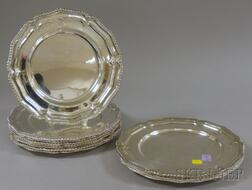 Set of Twelve Asian Silver Plated Service Plates