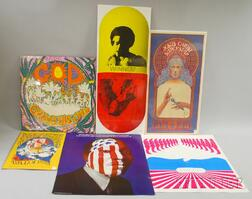 Six 1960s-70s Music and Culture Posters