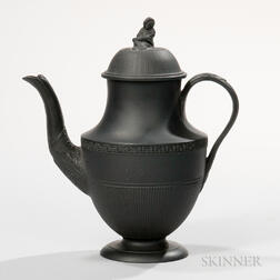 Turner Black Basalt Coffeepot and Cover