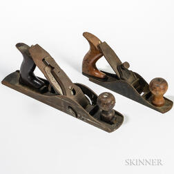 Stanley No. 10 1/2 Carriage Maker's Rabbet Plane and a No. 40 Scrub Plane