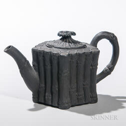 Turner Black Basalt Bamboo Teapot and a Cover