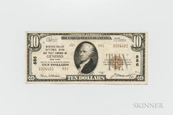 1929 Genesee Valley National Bank and Trust Company of Geneseo Type 2 $10 Note