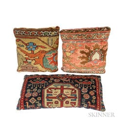 Three Antique Rug Pillows