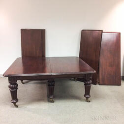 Joseph Fitter Victorian Mahogany Extending Dining Table