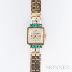 Retro 14kt Gold Wristwatch, Concord Watch Co., Retailed by Tiffany & Co.