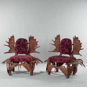 Pair of Antler Chairs