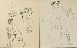 Leonard Baskin (American, 1922-2000)      Twenty Original Figure Study Drawings