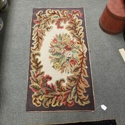 Two Floral Hooked Rugs