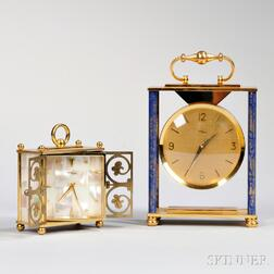 Two Imhof Brass Desk Clocks