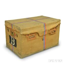 Canvas-covered Wooden Trunk