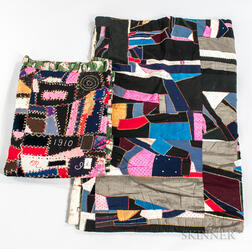 "Two Mennonite ""Crazy"" Quilts"