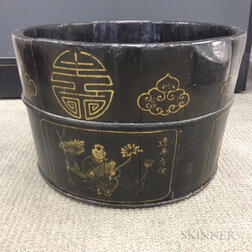 Large Gilt-decorated Container