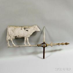 Molded Aluminum Cow Weathervane