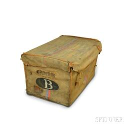 Canvas-covered Wicker Trunk