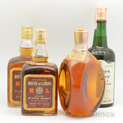 Mixed Scotch, 2 quart bottles 3 4/5 quart bottles