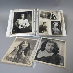 Group of Autographed Photographs of Actors and Musicians