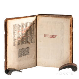 Gregory IX, Pope, [formerly Ugolino, Count of Segni] (before 1170-1241), Commentary of Bernard of Botone (d. 1266), and Girolamo Chiari
