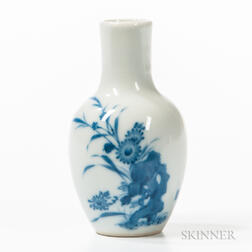 Blue and White Cabinet Vase